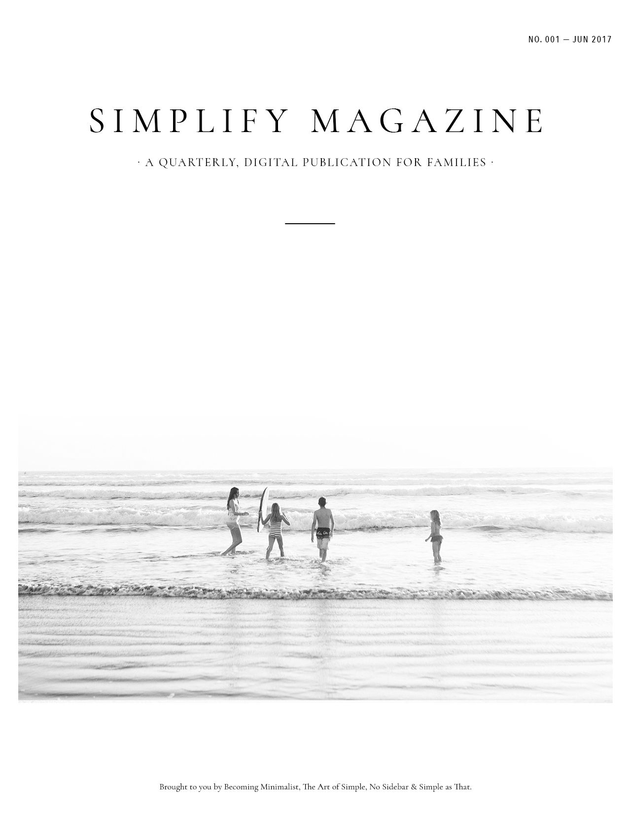 Simplify Magazine Issue #001