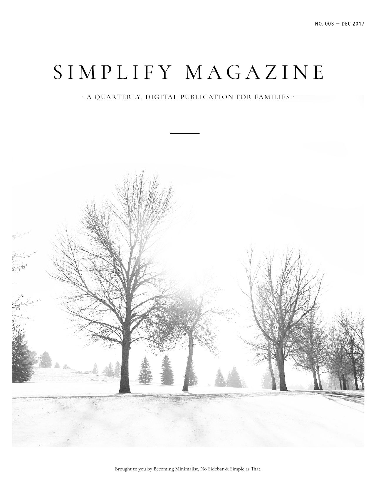 Simplify Magazine Issue #003